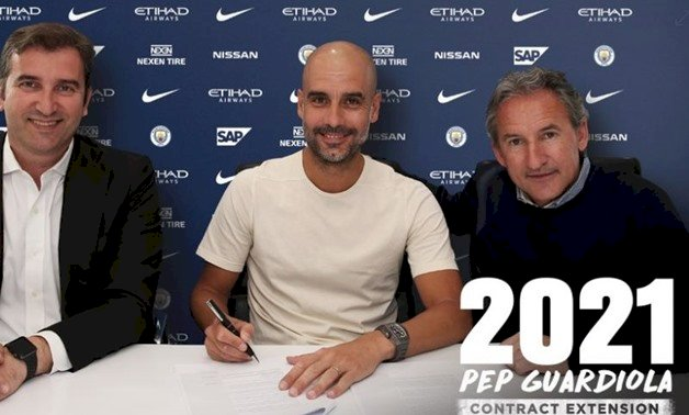 Pep Guardiola extends Manchester City contract