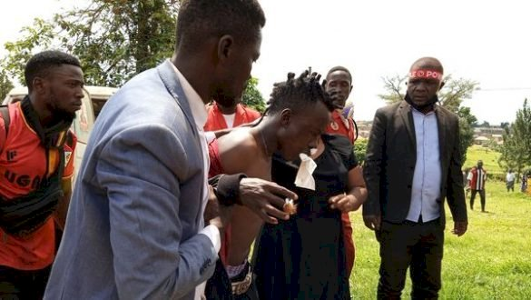 Bobi wine's music producer Dan Magic hit by police
